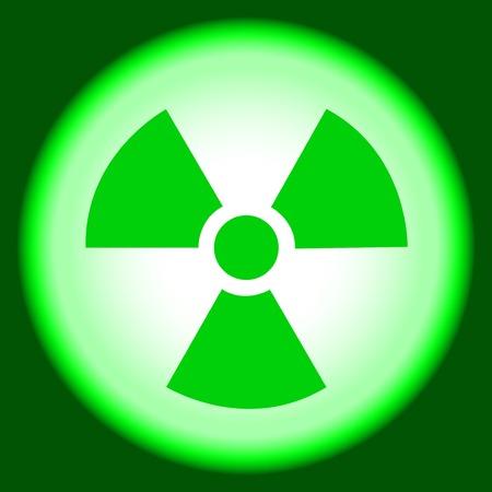 radiactividad: �tomo pac�fico, s�mbolo nuclear, precauci�n radiactividad, se�al de peligro, de fondo Vectores