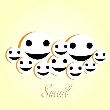 gleeful: Smile emoticon. Vector illustration Illustration