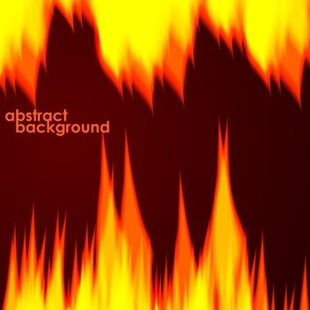 fiery: Fiery background. Vector illustration