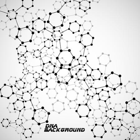 biotechnology: Molecule DNA. Abstract background. Eps10.Vector illustration Illustration
