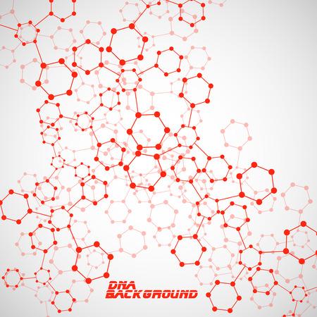 alternating organic: Molecule DNA. Abstract background. Vector illustration.