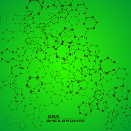 alternating organic: Molecule DNA. Abstract background. Vector illustration. Eps10