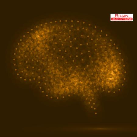brain illustration: Neon brain illustration