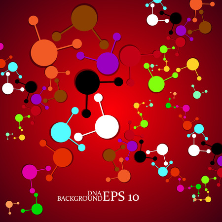 Molecule DNA. Abstract background Vector