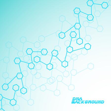 分子 DNA。抽象的な背景。  イラスト・ベクター素材