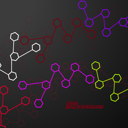 Molecule DNA. Abstract background. Vector illustration. Eps10 Vector