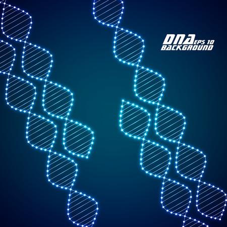 dna strands: Neon dna spiral. Abstract background. Vector illustration. Eps10