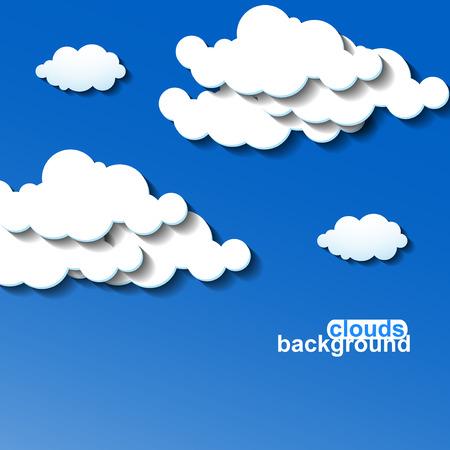 prognosis: Clouds background. Vector illustration. Eps 10