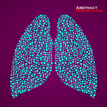 lung transplant: Abstract human lung. Vector illustration. Eps 10