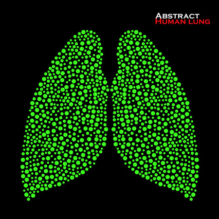 poumon humain: R�sum� poumon humain. Vector illustration. EPS 10
