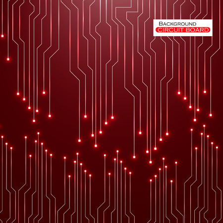 electronical: Circuit Board. Vector illustration.