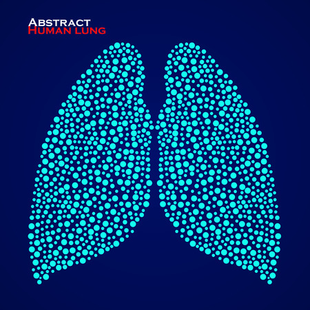 breathing exercise: Abstract human lung. Vector illustration. Illustration