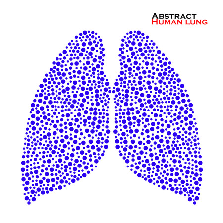 lung alveoli: Abstract human lung. Vector illustration. Illustration