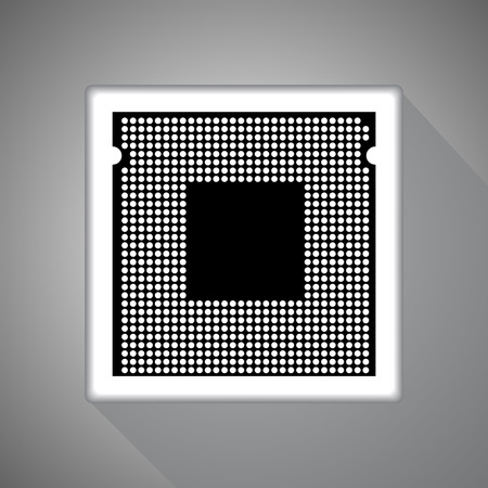 electronical: Cpu. Vector illustration.
