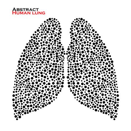 Abstrakt menschlichen Lunge. Vektor-Illustration. Eps 10 Standard-Bild - 41611722