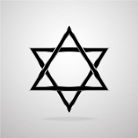 israelite: Star of David. Vector illustration. Eps 10 Illustration