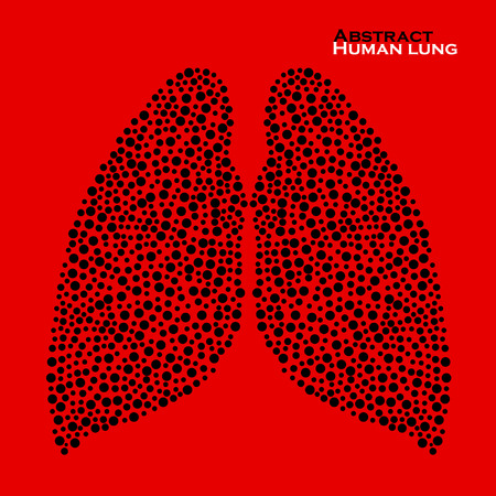 human lung: Abstract human lung. Vector illustration.  Illustration