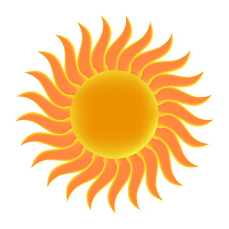 dawning: Sun. Vector illustration. Illustration
