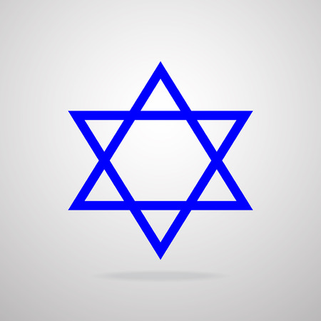 zionism: Star of David. Vector illustration.