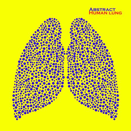 alveolos: Pulmón humano abstracto. Ilustración del vector.