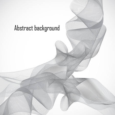 abstract waves: Abstract  background with grey waves. Vector illustration.
