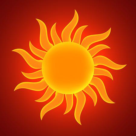 synopsis: Sun. Vector illustration.