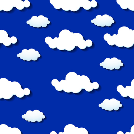 prognosis: Seamless wallpaper, clouds background. Vector illustration. Eps 10