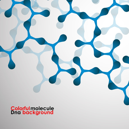 alternating organic: Colorful molecule DNA. Abstract background. Vector illustration.