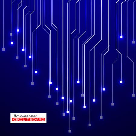 electronics parts: Circuit Board illustration.  Illustration