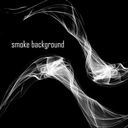 smell of burning: Abstract smoke isolated on black.
