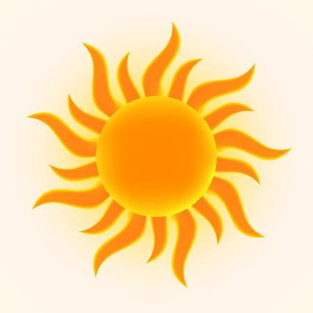 太陽のイラスト。  イラスト・ベクター素材