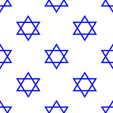 israelite: Star of David seamless pattern Illustration
