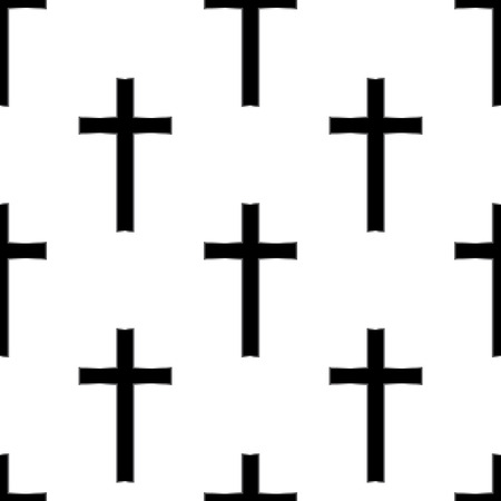 christian symbol: Religious cross seamless pattern.  Illustration