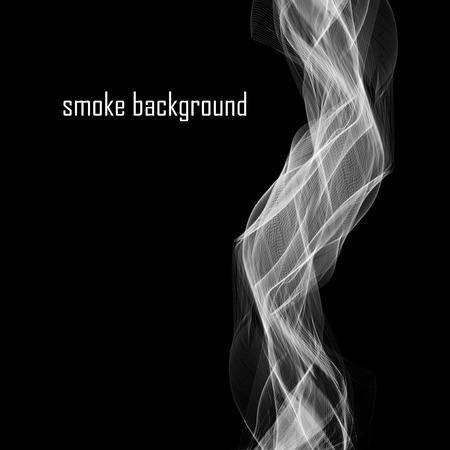 abstract smoke: Resumen de humo aislados en negro.