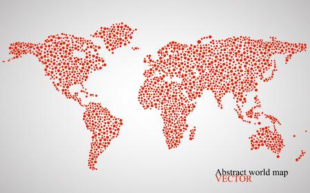 抽象的な世界地図。  イラスト・ベクター素材