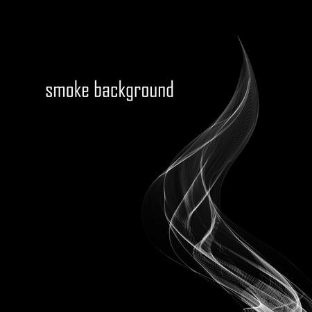 cigar shape: Abstract smoke isolated on black.  Illustration
