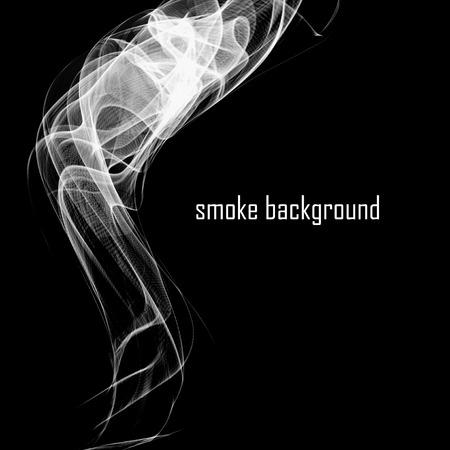 abstract smoke: Abstract smoke isolated on black.  Illustration