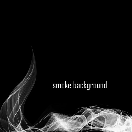 black smoke: Abstract smoke isolated on black. Vector illustration.