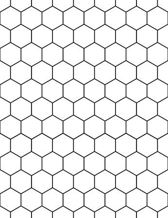 シームレスな壁紙パターン。スタイリッシュでモダンな生地です。六角形の形で背景。ベクトルの図。  イラスト・ベクター素材