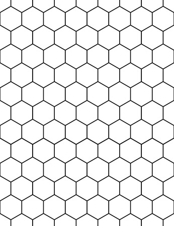 Seamless wallpaper pattern. Modern stylish texture. Background in the form of hexagons. Vector illustration. Illustration