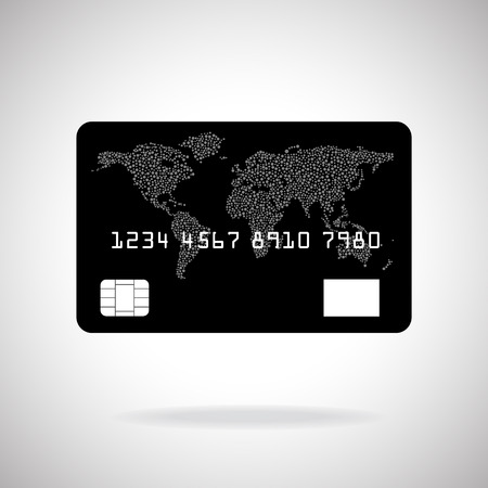 credit card payment: Credit card icon isolated on white background. Vector illustration.