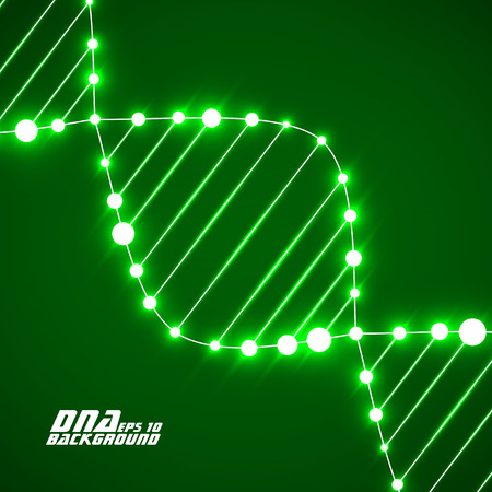 alternating organic: Neon dna spiral. Abstract background. Vector illustration. Eps10