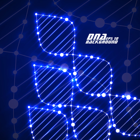 alternating organic: Neon dna spiral. Abstract background. Vector illustration.