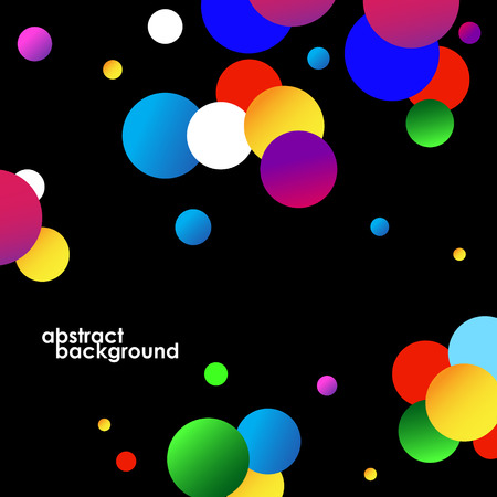 color spectrum: Abstract colorful circles background on black. Vector illustration. Eps 10