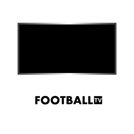 TV with text football. Vector illustration. Eps 10 Illustration