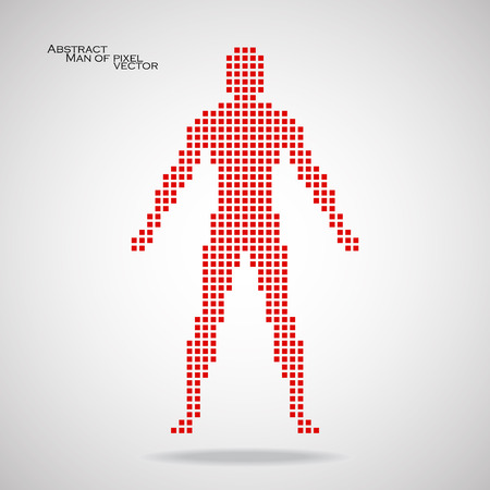 Man of pixel. Abstract background. Vector illustration.  Illustration