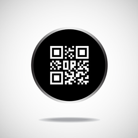 up code: Qr code icon. Vector illustration.