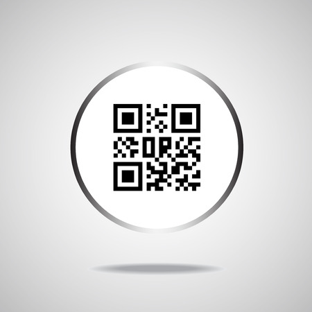 bytes: Qr code icon. Vector illustration.