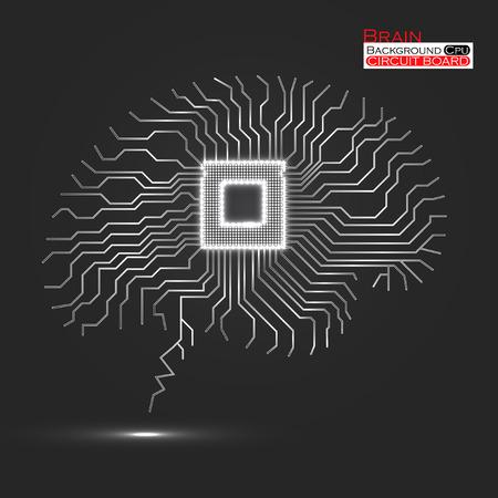 回路基板技術の抽象的な背景。
