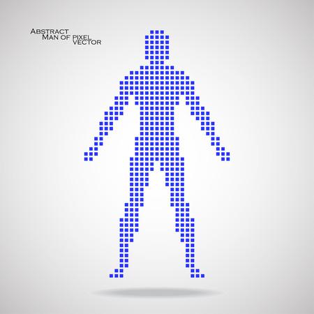 pix: Man of pixel Abstract background.